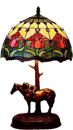 NBZH Tiffany Estilo lámpara Mesa Escritorio al Lado de la lámpara ...