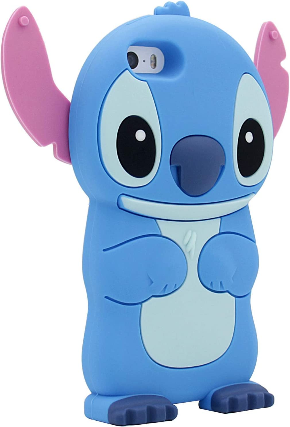 """Leosimp Blue Stitch Case for iPhone 8 Plus//7 Plus 5.5/"""" Cute 3D Cartoon Animal Cover,Kids Girls Boys Fun Cases Soft Silicone Gel Rubber Kawaii Character Protector Color Skin Cases for 8Plus"""