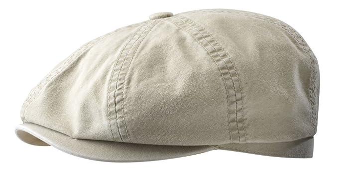22c6be2f Stetson Men's Hatteras Delave Organic Cotton Flat Cap at Amazon ...