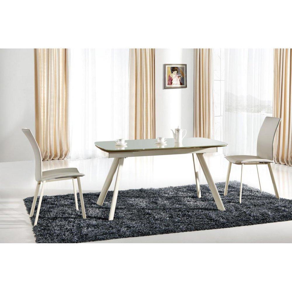 JUSThome Sitzgruppe Essgruppe Esszimmertisch Maximus aus Glas + 4 Stühle K192