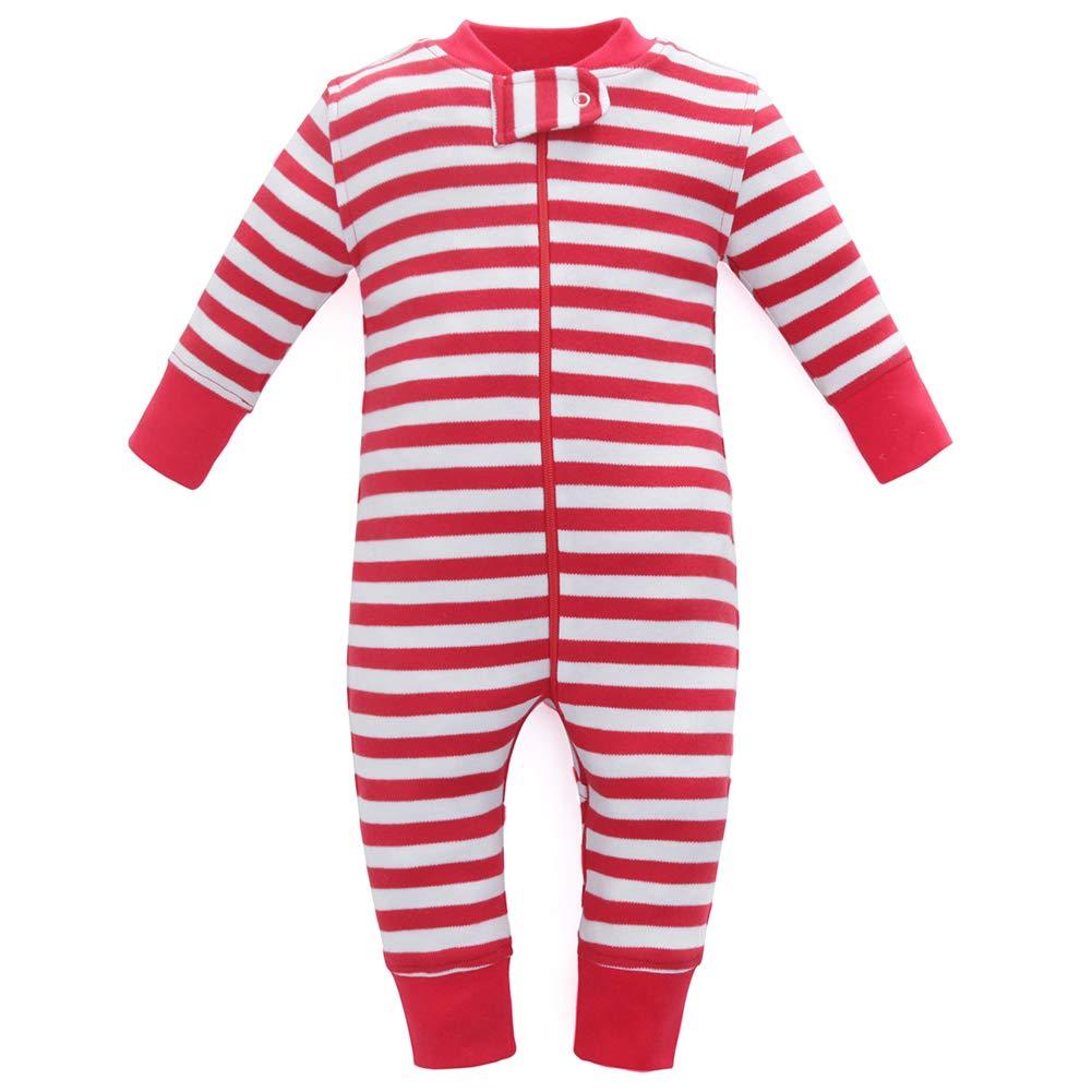 Owlivia Organic Cotton Baby Boy Girl Zip up Sleep N Play Size 0-18 Month Long Sleeve Footless