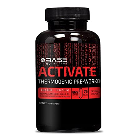 BASE ACTIVATE Pre Workout Supplement Pills for Men Women – Thermogenic Preworkout Pills that Increase Strength, Energy Weight Loss – 75 Capsules