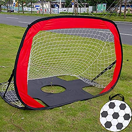 Kids Soccer Goal Net 2-In-1 Portable Pop Up With Carry Bag Portable Rugged Play