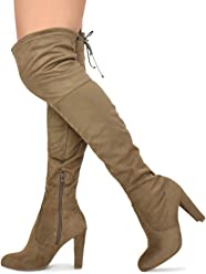 Wild Diva Womens Over The Knee Boot - Sexy Over The Knee High Pullon Boot -