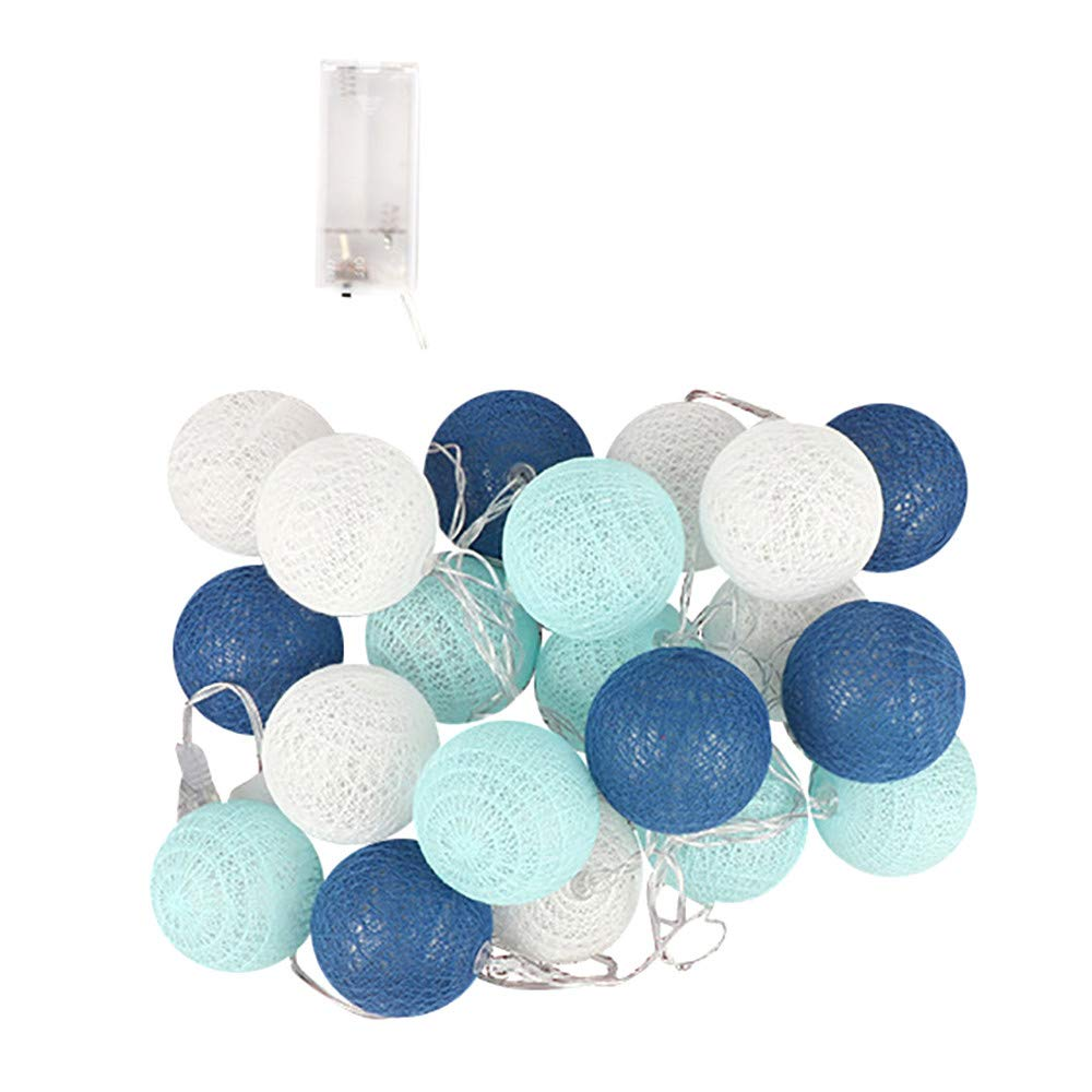 Ouniman Colorful Ball Fairy String Light Rattan Ball LED Lights String for Home Indoor,Bedroom,Curtain,Patio,Lawn,Landscape,Fairy Garden,Wedding,Holiday,Christmas Tree,Party - C