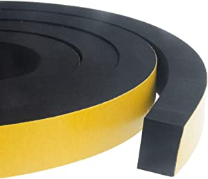 High Density Foam Insulation Tape Adhesive, Seal, Doors, Weatherstrip, Waterproof, Plumbing, HVAC, Windows, Pipes, Cooling, Air Conditioning, Weather Stripping, Craft Tape 1