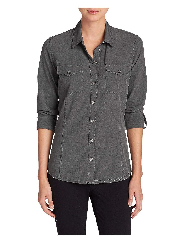 4295b4d156917 Eddie Bauer Women s Departure Long-Sleeve Shirt at Amazon Women s Clothing  store