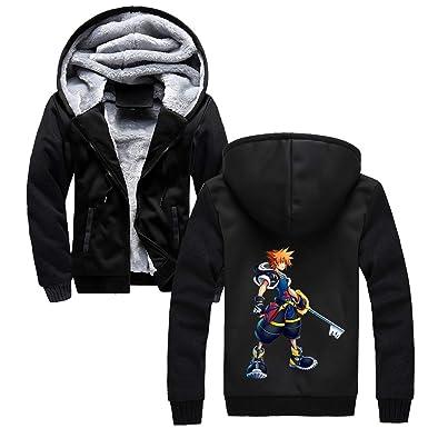 Kingdom Hearts Tendencia Abrigo con Capucha Sudaderas Hoodie Caída Invierno Coat Outwear con Cremallera Sudaderas con Capucha para Novio: Amazon.es: Ropa y ...