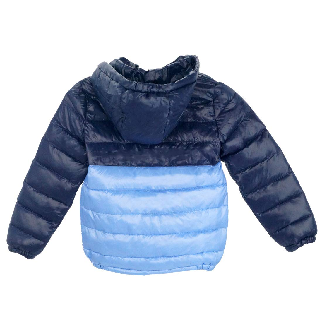 Happy Cherry Boys Down Winter Coat Thin Warm Removable Hood Zipper Puffer Jacket 3-9T