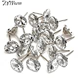 zilzol 20Pcs/Set Diamond Pattern Crystal Upholstery Nails Button Tacks Studs Pins 20mm Dia Sofa Wall Decoration Furniture Accessories