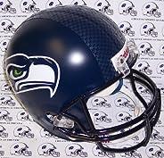 Seattle Seahawks Riddell Full Size Deluxe Replica Football Helmet - Sports Memorabilia