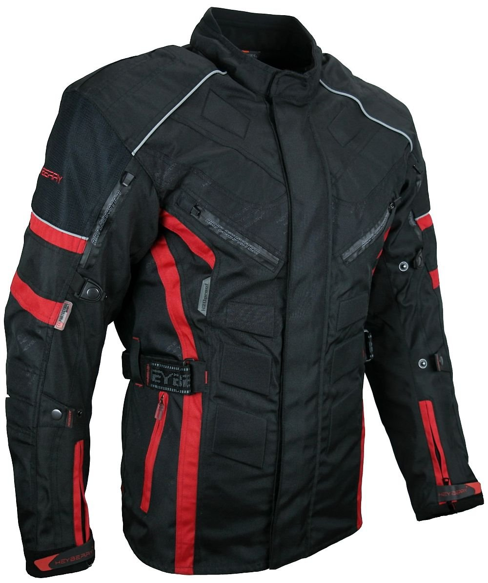 5XL HEYBERRY Herren Touren Motorradjacke Textil schwarz Gr