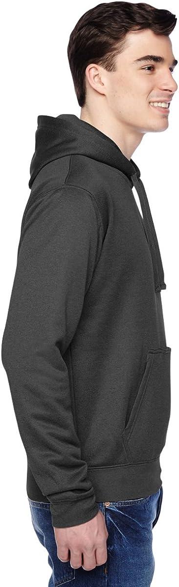 J America Mens Tailgate Poly Fleece Hooded Pullover Sweatshirt 8615