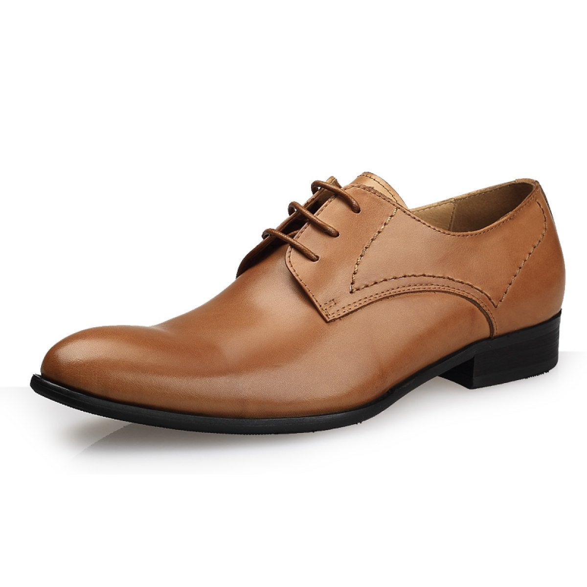 GRRONG Mauml;nner Mode-Business Kleid Schuhe Bequem Und Atmungsaktiv Hochzeit Schuhe  38|Yellow
