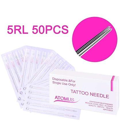 100 5RL agujas para tatuajes Agujas para tatuajes de primera ...