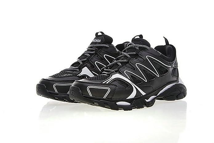 Balenciaga Chaussures Unquei De Track Blanc Noir 4qxfw17