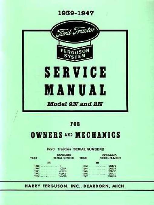 amazon com: bishko automotive literature 1939-1947 ford 9n 2n tractor shop  service repair manual book engine electrical: automotive