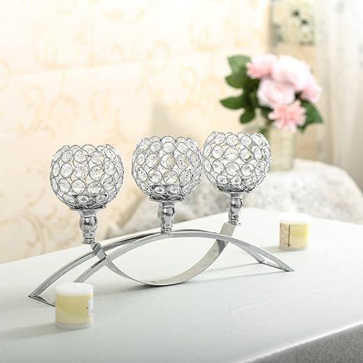 Cristal candelabro vela té luz Portavelas para boda fiesta ...