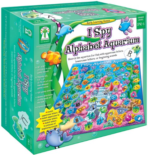 Key Education Publishing I Spy Alphabet Aquarium: Search the aquarium for fish with uppercase letters, lowercase letters, or beginning sounds
