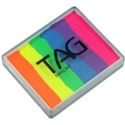 TAG Split Cakes - Neon Rainbow (50 gm): Toys & Games