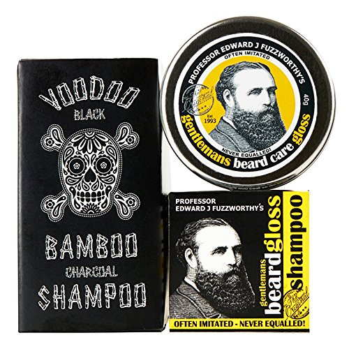 Phyto Sculpting Gel (Professor Fuzzworthy Beard Care Kit Grooming Gift Set BEARD SHAMPOO Beard Gloss Voodoo Charcoal Shampoo Bar for Soft Hair & Beard | 100% Natural | Anti Itch & Conditioning | Made in Tasmania Australia)