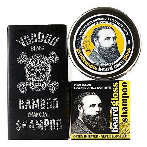 Phyto Sculpting Gel (Professor Fuzzworthy Beard Care Kit Grooming Gift Set BEARD SHAMPOO Beard Gloss Voodoo Charcoal Shampoo Bar for Soft Hair & Beard   100% Natural   Anti Itch & Conditioning   Made in Tasmania Australia)