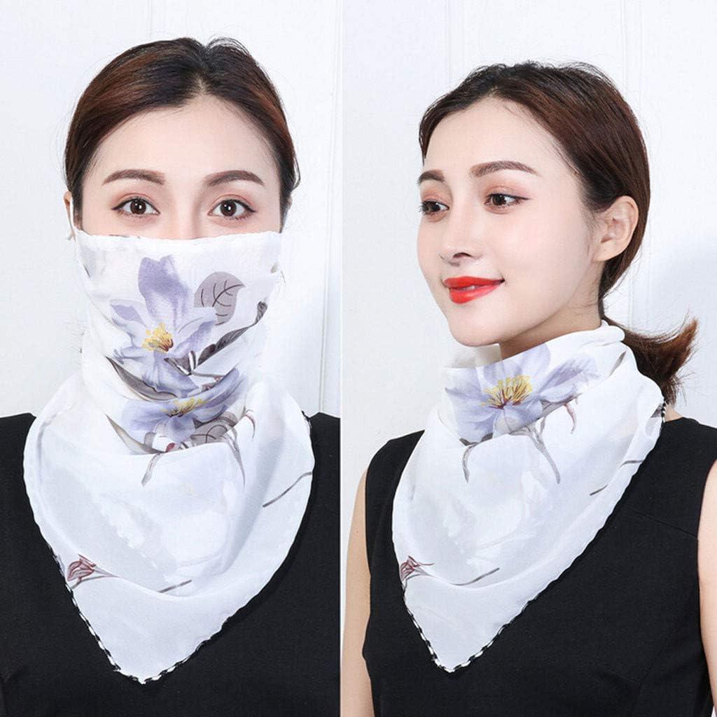 GJKK Damen Mundschutz Halstuch Face Multifunktionstuch Sommer Chiffon Tuch Atmungsakti Sommer UV-Schutz Bandanas