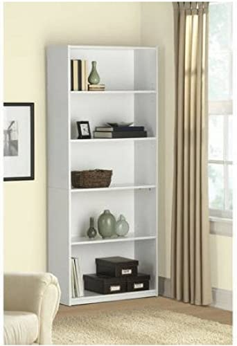 Deal of the week: Mainstay 5-Shelf Wood Bookcase White