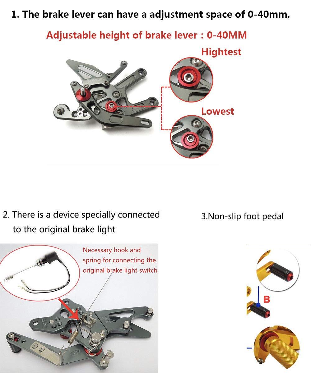 Titanium MADRACING 04-07 CBR1000RR 03-06 CBR600RR Motorbike Adjustable Rearsets CNC Aluminum