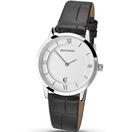 13c3d27d3219 SEKONDA Womens Analogue Classic Quartz Watch with Leather Strap 2289.27:  Amazon.co.uk: Watches
