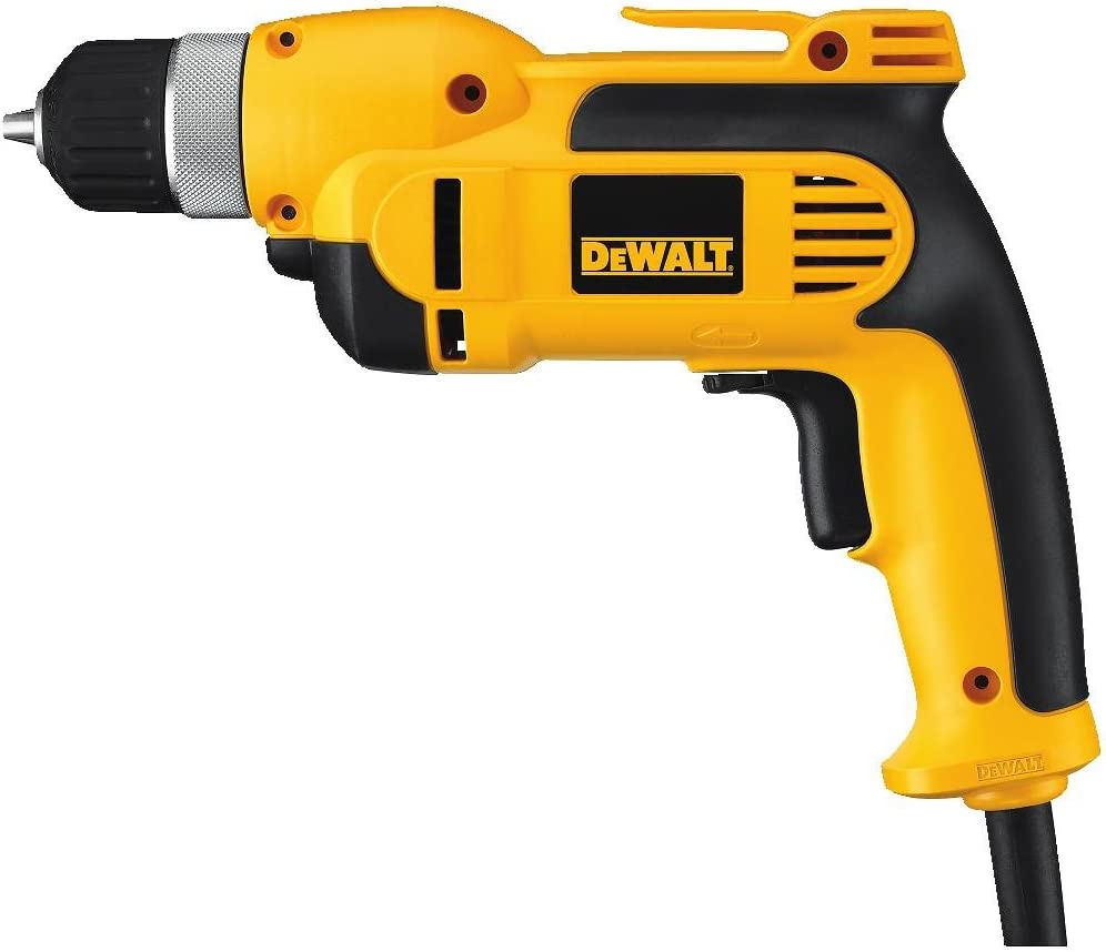 DeWalt dwd110K 8.0Amp 3/8-Inch VSR Pistola Grip Drill Kit con portabrocas sin llave