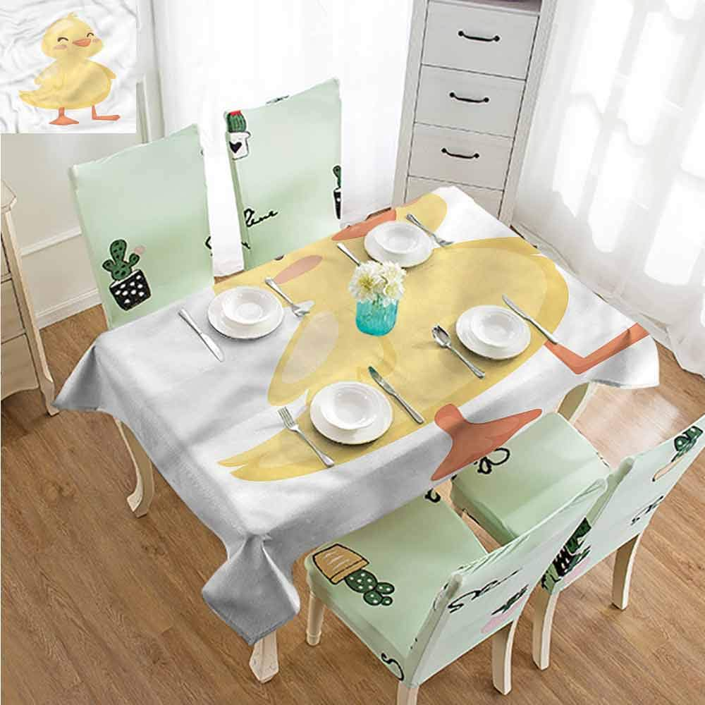 SLLART Tablecovers Rectangle Duckies,Cartoon Duck Happy Face W54 xL72,for Party
