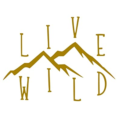 CCI Live Wild Wanderlust Decal Vinyl Sticker|Cars Trucks Vans Walls Laptop (Gold, 5.5 x 4.25 in): Automotive