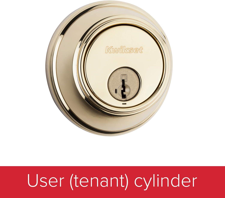 Deadbolt Single Cylinder polished Chrome Door Keyed Lock Kwikset Keyway Locks