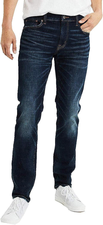 American Eagle Mens 4406913 Ne(X) t Level Slim Straight Jean,Dark Indigo Wash (26x28)