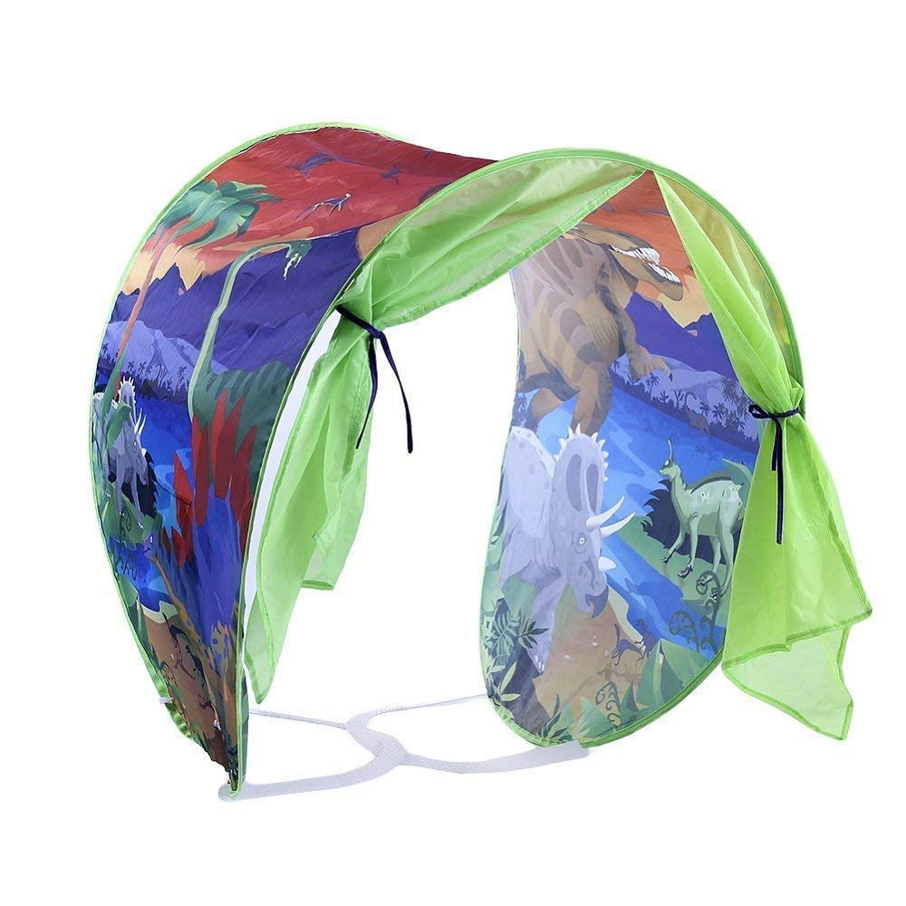 Simplefirst Foldable Children's Star Tent Pop Up Bed Tent Fairy Playhouse Dinosaur Tent Best Halloween & Christmas Festival Decoration Tent For Kids (Dinosaur)