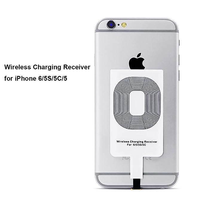 Qrity Qi Wireless Charger Receptor de Cargadores Qi para iPhone 6/5S/5C iPhone 6s 7 iPhone 8