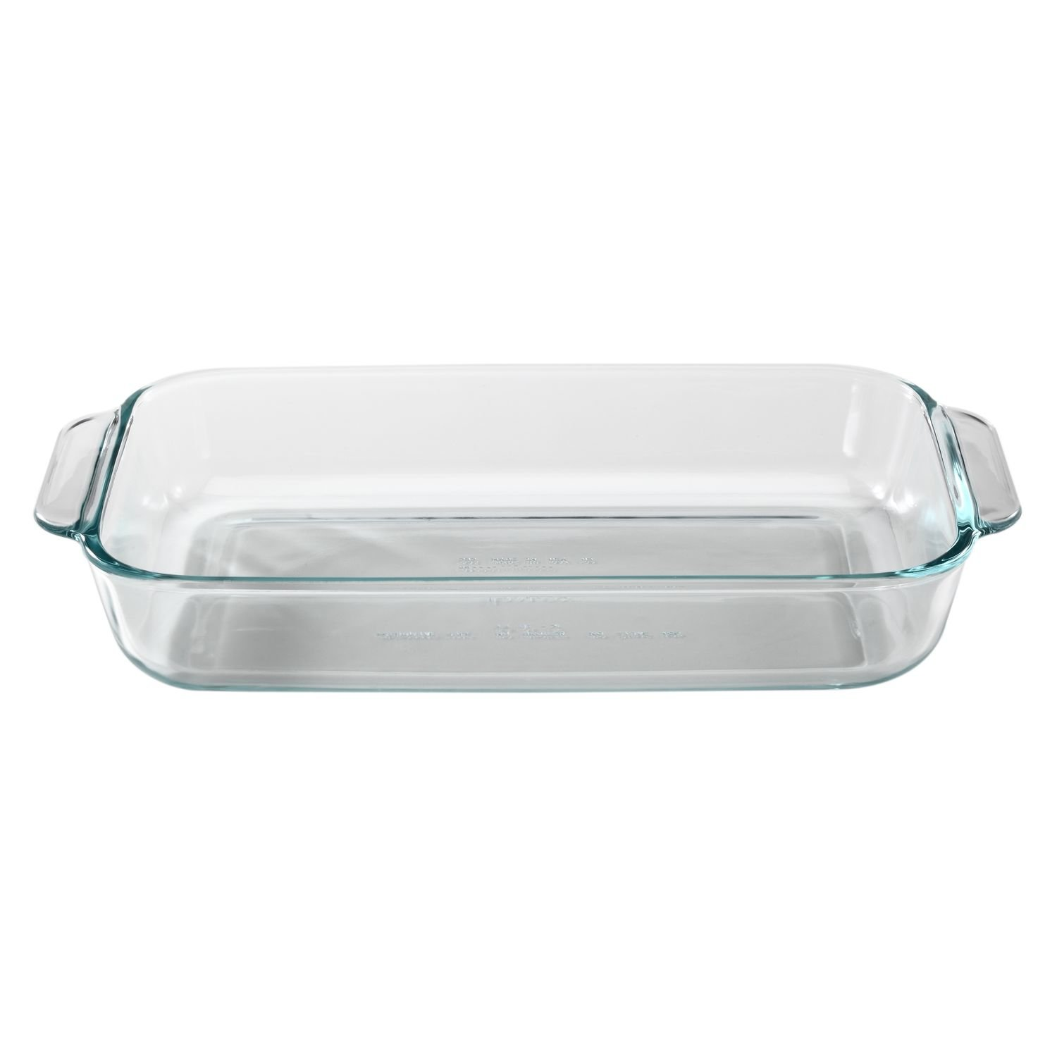 Pyrex SYNCHKG055786 Basics 2 Quart Glass Oblong Baking Dish, Clear 11.1 in. x 7.1 in. x 1.7
