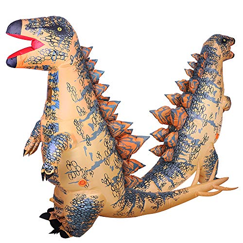 Inflatable Stegosaurus Dinosaur Costume for Adult Blow Up Fancy Costume Suit Party Party Toy -