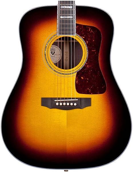 Hermandad D-55 ATB envejecido Sunburst guitarra acústica ...