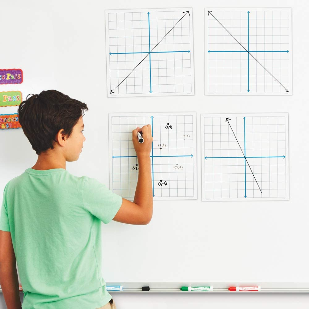 EAI Education Magnetic X-Y Coordinate Grids Set of 4