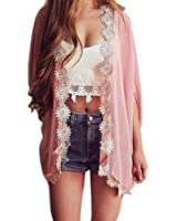 Sandistore Women Loose Kimono Cardigan Jacket Blouse Tops
