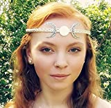 Crescent Moon Triple Goddess Circlet Crown