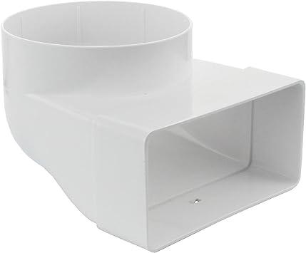 MKK – 18324 – Canal 90 ° Tubo Conector sistemas Canal Plano 60 x 204 Campana ventilación: Amazon.es: Bricolaje y herramientas