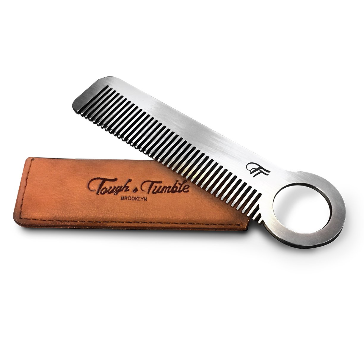 Tough & Tumble Metal Comb''The Revolve'' with Leather Sheath by Tough & Tumble (Image #1)