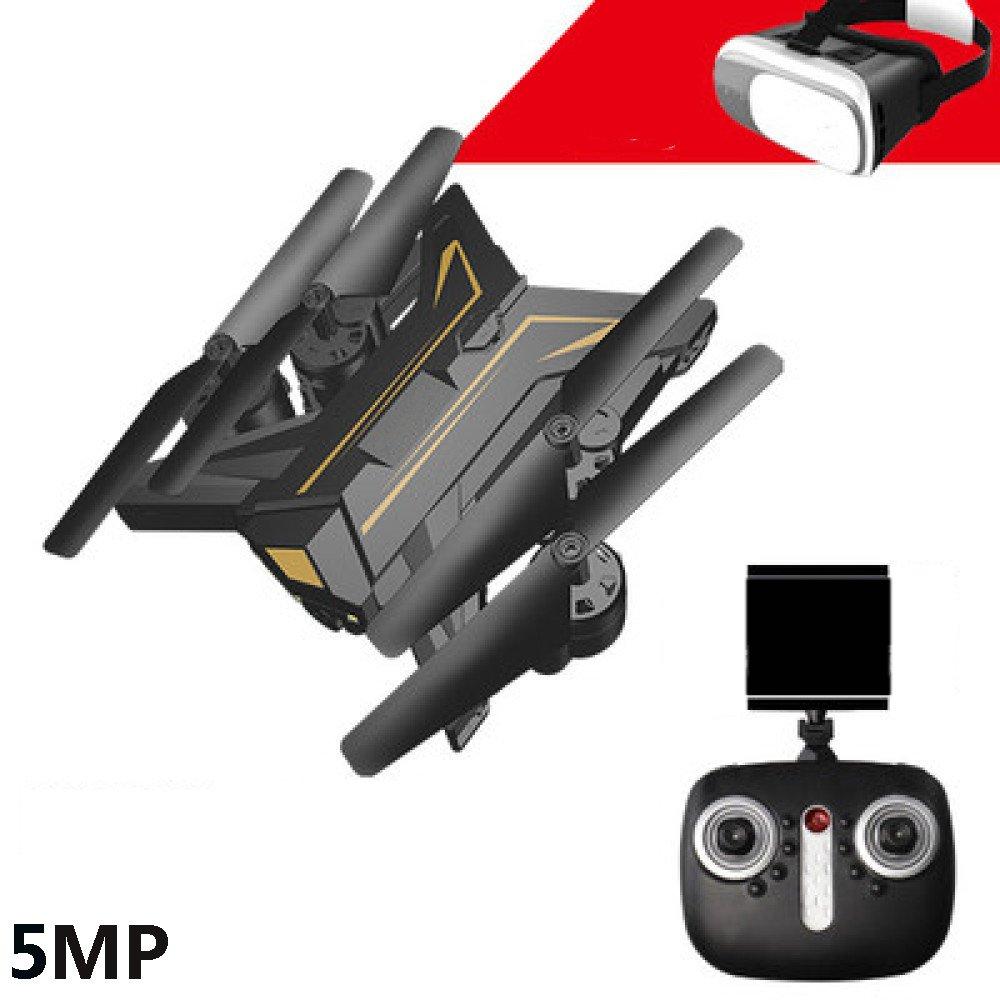 Drone RC Plegable Con Cámara De 5MP HD Video En Vivo De La Cámara Wifi Y Modo Sin Cabeza 2.4GHz Quadcopter Gyro De 6 Ejes Con Altitude Hold Y One-Button Despegue Aterrizaje Bueno Para Niños Y Principiantes,3Batteries