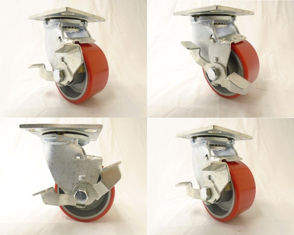 4 Quot X 2 Quot Swivel Caster Polyurethane On Steel Hub With Top