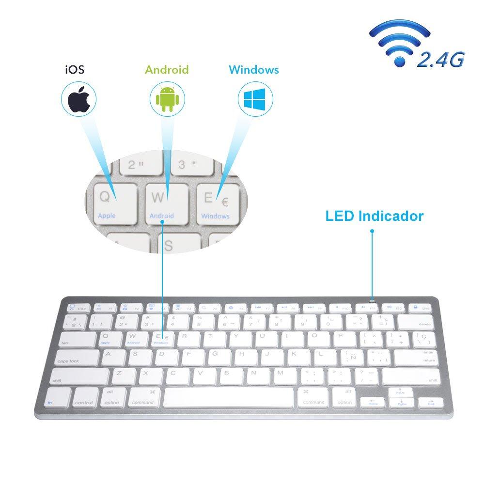 Teclado Bluetooth en Español para MAC OS Android Windows: Amazon.es: Electrónica