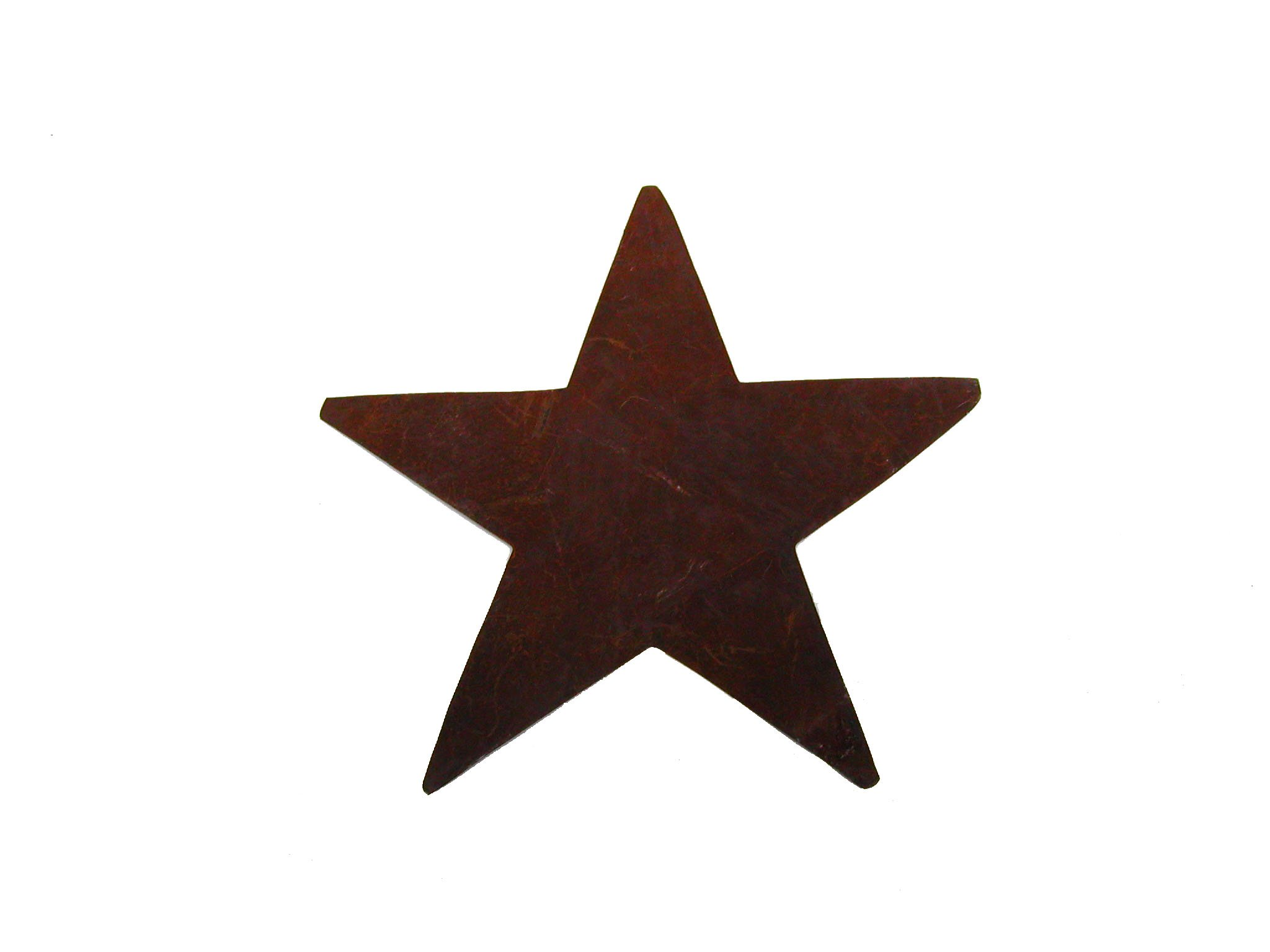 Craft Outlet Star Cutout Wall Decor, 5-Inch, Rust, Set of 12