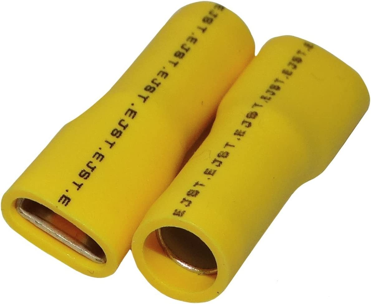Aerzetix 100x Cosses /électriques femelle plate 9.5mm 1.2mm 3-6mm2